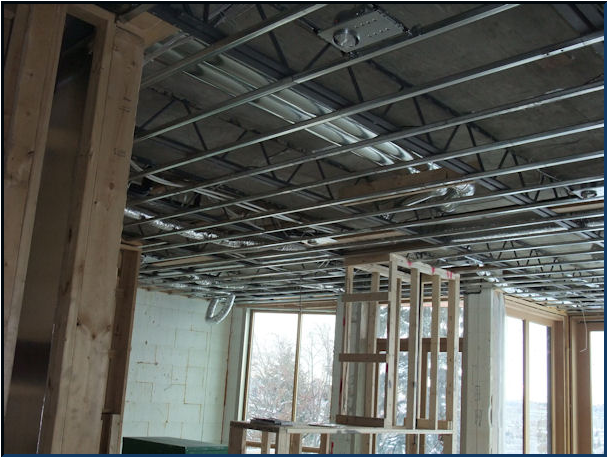 Photo gallery glacier drywall - How put cement foundations ceilings ...