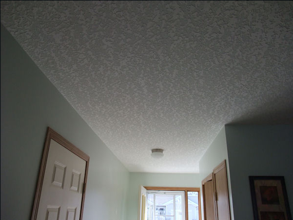 This Knockdown Ceiling Started As A Painted Stipple Ceiling Stained With  Smoke. It Turned Out Beautiful.